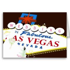 WEDDING in Las Vegas Card
