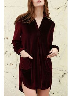 GET $50 NOW | Join Zaful: Get YOUR $50 NOW!http://m.zaful.com/cozy-velvet-shirt-dress-p_126525.html?seid=1748704zf126525
