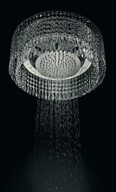 Chandelier Shower...how glamorous!