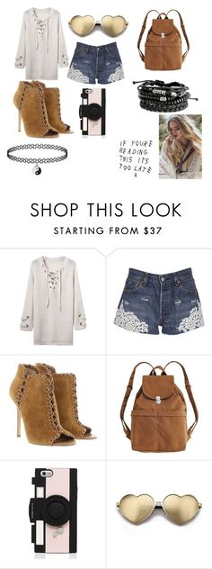 """random"" by venusaturnes ❤ liked on Polyvore featuring Forte Couture, Michael Kors, BAGGU, Kate Spade and Wildfox"