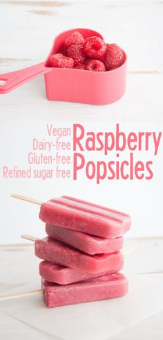 Vegan Raspberry Popsicles | http://ElephantasticVegan.com