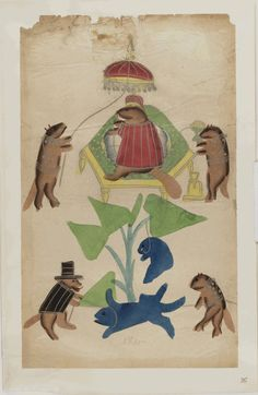 Kalighat paintings - mouse king