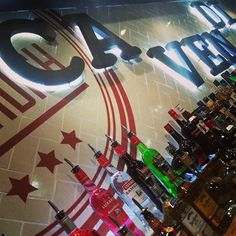 Back bar design at The Cavendish in Sheffield