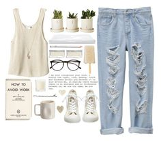 """24/7 tired."" by thaliabree ❤ liked on Polyvore featuring Tala, Illesteva, Converse, Minor Obsessions, Alex Marshall Studios and Shabby Chic"