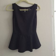 Bisou bisou black peplum top Lovely top. Perfect for a casual day or a night out in town Bisou Bisou Tops Blouses
