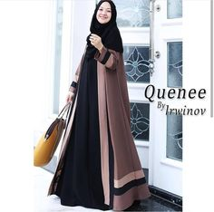Moslem Fashion, Niqab Fashion, Modern Hijab Fashion, Muslim Women Fashion, Hijab Fashion Inspiration, Fashion Outfits, Dress Muslim Modern, Muslim Dress, Hijab Dress