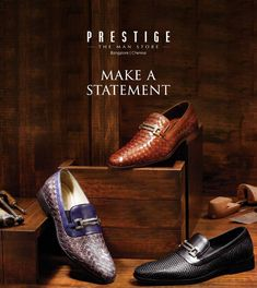 A shoe can change your body language, attitude and transform your outfit. And that's exactly what the H&S handcrafted leather shoes do. Come discover these distinct accessories exclusively at #PrestigeTheManStore.