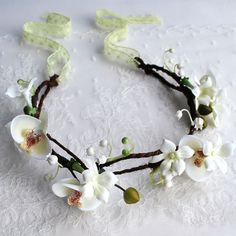 "Orchid & Lilly of The Valley Flower Crown ""Leilani"""