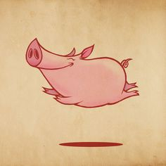 Flying pig – artist unknown (by me) Pig Drawing, Cartoon Girl Drawing, Girl Cartoon, Cartoon Drawings, Cartoon Pig, Happy Pig, Pig Illustration, Pig Art, Flying Pig