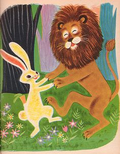 Art Seiden // I'm so happy this lion and rabbit are so happy!