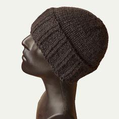 Men knit hat, cuffed beanie (100% Baby Alpaca wool)