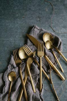 gold flatware | photo by ali harper | styling by ginny branch