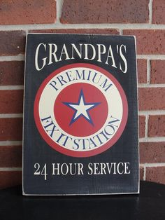 Grandpa's garage sign