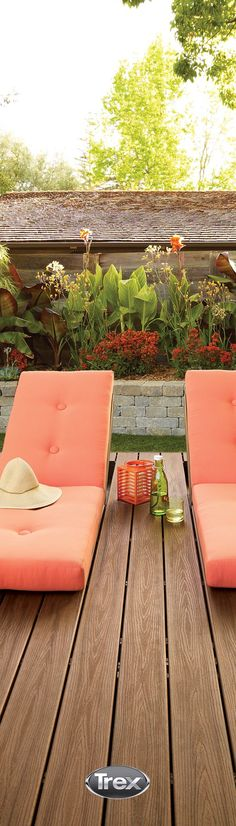 A perfect outdoor spot for enjoying the Spring blooms. See how bright colors can bring Spring refresh to your outdoor space at trex.com