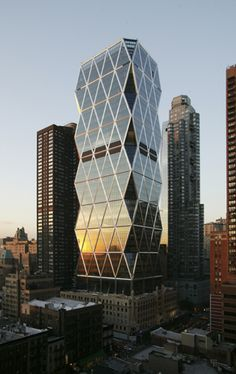 Hearst Tower, Manhattan, New York, USA, Norman Foster #arquitectura #architecture #skyscrapers