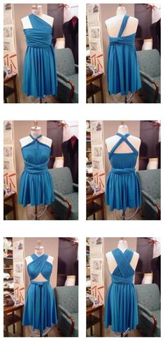 DIY infinity convertible dress. I reallllllly want to make one of these.
