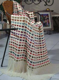 I love scraps afghan (pattern) from Crochet-world Crochet Afghans, Crochet Heart Blanket, Crochet Motifs, Afghan Crochet Patterns, Crochet Yarn, Crochet Stitches, Crochet Hooks, Free Crochet, Crochet Blankets