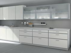 Contemporary Kitchen Glass Cabinets Modern White Kitchen Cabinets Ideas  Useful Suggestions To Choose The Perfect Glass Kitchen Cabinets