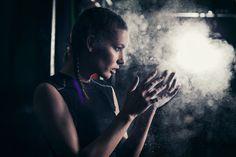 photoshop manipulation services girl model athlete on a dark background