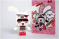 grey Charuca Paper Toys :) blog