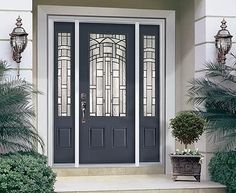 Front door color. Love gray!