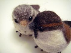 needle felting, how to! Birds - really like this one!
