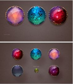 游戏UI 魔法 水晶 按钮-UI中国-专...: