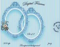 BLUE ORNATE FRAMES for Photographers Web Blog by pixelmarket, €4.50