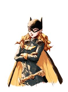 """ougibro: """"Day 122. Colored sketch of Batgirl today, trying some stuff out. """" DC Comics"""