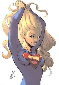 Supergirl color by logicfun.deviantart.com