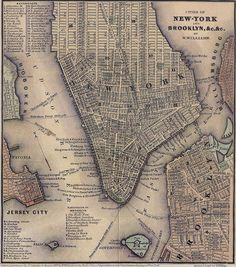 1847 map of lower Manhattan