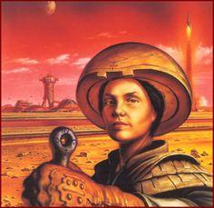Sci-fi women by Chris Moore