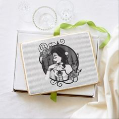 Gothic Victorian Vampire Portrait Shortbread Cookie - home gifts ideas decor special unique custom individual customized individualized