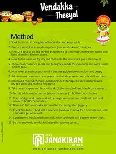 Vendakka Theeyal - Recipe