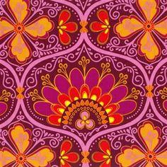 New Leaf by Daisy Janie Organic Fabrics - Rhapsody Raspberry