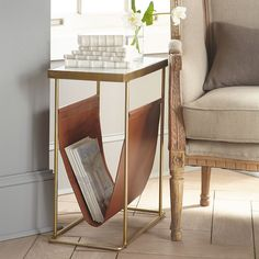 Modern Magazine Side Table