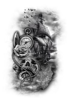 www.customtattoodesign.net wp-content uploads 2014 04 pirate-ship.jpg