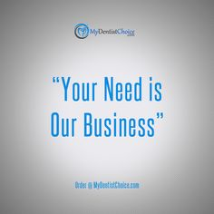YOUR NEEDS OUR BUSINESS #MyDentistChoice is the direct sales and #distribution portal of dental equipment and accessories from top name manufacturers in the #industry. We are #paving a new way and changing the #Dental #Ecommerce, just glide along the #change #MyDentistChoice Visit us @ http://bit.ly/mdc3124