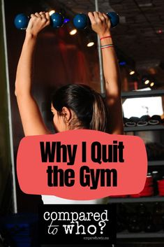 The gym soon became my idol; I relied on it for my happiness and body image freedom. I even became a fitness instructor. But then God told me that I needed to quit. Read my story on my blog, Compared to Who?   #christianblogger #quitthegym