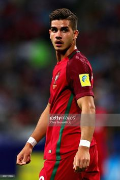 Andre Silva of Portugal in action during the FIFA Confederations Cup Russia 2017 Semi-Final between Portugal and Chile at Kazan Arena on June 28, 2017 in Kazan, Russia.