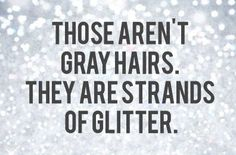 "Gray Hair - love it! (also heard of them as ""platinum highlights"") @Christina Childress Balentine"