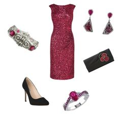 """Christmas Party"" by nmccullough ❤ liked on Polyvore featuring L.K.Bennett, Christian Louboutin, Trifari, Colette Jewelry and Ice"
