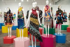 Mary Katrantzou, Visual Merchandising, Dallas, Digital Prints, Queens, Shapes, Contemporary, Exhibitions, Windows