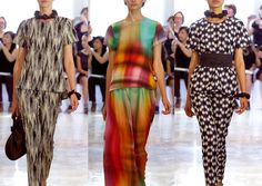 Josie Natori S/S 2014-Abstract Forms – Blurred Pattern – Monochrome Patterns – Rainbow-Bright Checks - Creative Print Mixes - Abstract Geometrics – Ombre Blurred ...