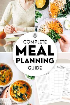 Your full guide to vegan meal planning for beginners! Find our top tips to get started, free printables for meal planning on a budget, shopping lists, full 3-day plant-based meal plan and easy go-to recipes to create your own weekly plan for the whole family! Plant Based Nutrition, Vegan Nutrition, Nutrition Tips, Best Vegan Recipes, Easy Recipes, Easy Meals, Healthy Recipes, Plant Based Meal Planning, Vegan Meal Plans