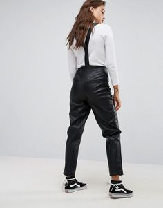Kuvahaun tulos haulle leather look dungarees asos Dungarees, Overalls, Parachute Pants, Asos, Womens Fashion, Leather, Clothes, Shopping, Style