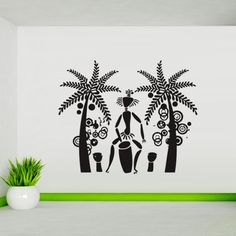Wall Decal Art Decor Decals Sticker Palm Dancing Drum Tribe Antiquity Africa Tradition Man (M206) DecorWallDecals http://www.amazon.com/dp/B00FVWK00W/ref=cm_sw_r_pi_dp_98lYub0EVR9FF