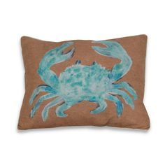 Water Color Crab 16 x 20-inch Decorative Throw Pillow #Thro