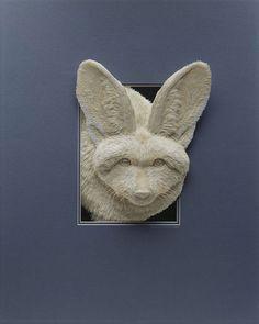 紙を使った彫刻作品12