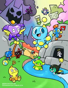 Savage Chao Garden, ;^; I miss my chao, I keep getting nostalgic when I see pins like these